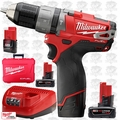 "Milwaukee 2404-22 12 Volt M12 FUEL 1/2"" Hammer Drill/Driver Kit 3x Batt Kit"