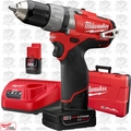 "Milwaukee 2404-22 12 Volt M12 FUEL 1/2"" Hammer Drill/Driver Kit 2xBatt"
