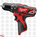 "Milwaukee 2408-20 12 Volt M12 3/8"" Cordless Hammer Drill NIB Tool Only"