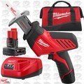 Milwaukee 2420-21 12V Hackzall M12 Reciprocating Saw 2 Batteries w/1x 6.0ah