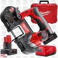 Milwaukee 2429-21XC 12V M12 Cordless Sub-Compact Band Saw 2 batt w/1x 6.0ah
