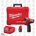 "Milwaukee 2453-22 12 Volt M12 FUEL 1/4"" Hex Impact Driver Kit OB"