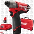 "Milwaukee 2453-22 12 Volt M12 FUEL 1/4"" Hex Impact Driver Kit"