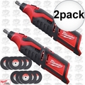 Milwaukee 2460-20 2pk 12 Volt M12 Cordless Rotary Tool (Tool Only)