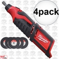 Milwaukee 2460-20 4pk 12 Volt M12 Cordless Rotary Tool (Tool Only)