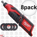 Milwaukee 2460-20 8pk 12 Volt M12 Cordless Rotary Tool (Tool Only)