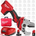 Milwaukee 2470-21 M12 Cordless PVC Shear 2 Batteries 1x 6.0Ah Battery