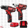 Milwaukee 2494-22 M12 Drill/Impact Combo Kit Open Box