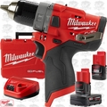 Milwaukee 2504-22 M12 FUEL 1/2'' Hammer Drill w/ 2ah,4ah Batts+Charger