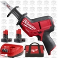 Milwaukee 2520-21XC M12 FUEL HACKZALL Recip Saw 1each 4.0Ah + 6.0Ah Batts