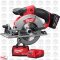 "Milwaukee 2530-21XC M12 FUEL 5-3/8"" Circular Saw w/ 4.0Ah XC Batt + Charger"