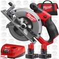 "Milwaukee 2530-21XC M12 FUEL 5-3/8"" Circular Saw 1each 4.0Ah + 6.0Ah XC Batt"