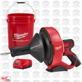 "Milwaukee 2571-21 M12 Drain Snake Cleaning Machine Kit w/ 5/16""X25' Cable OB"