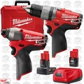 Milwaukee 2594-22 M12 FUEL 2-Tool Drill/Driver + Impact Combo Kit