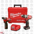 Milwaukee 2594-22 M12 FUEL 2-Tool Drill/Driver & Impact Combo Kit OB
