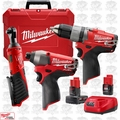 Milwaukee 2594-22 M12 FUEL 2-Tool Drill/Driver + Impact Combo Kit Kit