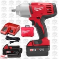 "Milwaukee 2662-22 18 Volt 1/2"" High Torque Impact Wrench Kit w/ Detent Pin"