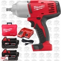 "Milwaukee 2663-22 18 Volt 1/2"" High Torque Impact Wrench Kit w/ Hog Ring"