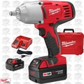 "Milwaukee 2663-22 18 Volt 1/2"" High Torque Impact Wrench Kit w/ Hog Ring O-B"