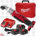 "Milwaukee 2668-22 M18 Cordless 2-Speed 3/8"" Right Angle Impact 3XC Batteris"