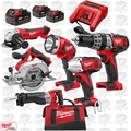 Milwaukee 2696-26 18 Volt M18 6 Piece Tool Kit + BONUS 4.0Ah Battery