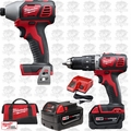 Milwaukee 2697-22 18 Volt M18 2-Tool Combo Kit XC Batts Hammer + Impact