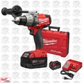 "Milwaukee 2703-22 M18 Gen 2 FUEL 1/2"" Drill/Driver Kit 5.0Ah Batt Bundle"