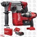"Milwaukee 2712-22 M18 FUEL 1"" SDS Plus Rotary Hammer Kit w/ Hammer Drill"