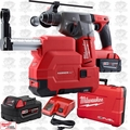 "Milwaukee 2712-22DE M18 FUEL 1"" SDS Plus Rotary Hammer-Dust Extractor"