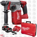 "Milwaukee 2712-22HD M18 FUEL 1"" SDS Plus Rotary Hammer 2x 9.0 Batts O-B"