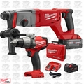 "Milwaukee 2713-22 M18 FUEL 1"" SDS Plus D-Handle Rotary Hammer w/Hammer Drill"