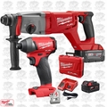 "Milwaukee 2713-22 M18 FUEL 1"" SDS Plus D-Handle Rotary Hammer w/ Hex Impact"