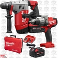 "Milwaukee 2715-22 M18 FUEL 1-1/8"" SDS Plus Rotary Hammer w/ Hammer Drill"