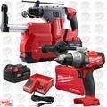 "Milwaukee 2715-22DE M18FUEL 1-1/8"" SDSPlus Rotary Hammer w/Dust+Hammer Drill"