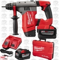 "Milwaukee 2715-22HD M18 Fuel 1-1/8"" Sds Plus Rotary Hammer 2x 9.0 Batts"