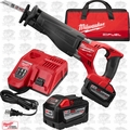 Milwaukee 2720-22HD M18 Fuel Sawzall Reciprocationg Saw Kit 2x 9.0 Batts