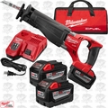 Milwaukee 2720-22HD M18 Fuel Sawzall Reciprocationg Saw Kit 3x 9.0 Batts
