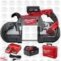 Milwaukee 2729-22 M18 Fuel Deep Cut Band Saw Kit w/2 Batt Kit Open Box