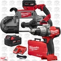 Milwaukee 2729-22 M18 Fuel Deep Cut Cordless Band Saw w/ 2 Batt+Hammer Drill