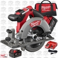 "Milwaukee 2730-22 18 Volt M18 FUEL 6-1/2"" Circular Saw Kit Open Box"