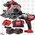 "Milwaukee 2730-22 M18 FUEL 6-1/2"" Cordless Circular Saw w/ Hammer Drill"