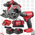 "Milwaukee 2730-22 M18 FUEL 6-1/2"" Cordless Circular Saw w/Hex Impact Driver"