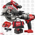 "Milwaukee 2731-21 M18FUEL 7-1/4"" Cordless Circular Saw w/Hammer Drill Driver"