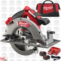 "Milwaukee 2731-22HD M18 Fuel 7-1/4"" Circular Saw High Demand Kt 2x 9.0 Batts"