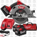 "Milwaukee 2731-22HD M18 Fuel 7-1/4"" Circular Saw High Demand Kt 3x 9.0 Batts"