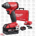 "Milwaukee 2753-22 M18 Gen 2 FUEL 1/4"" Hex Impact Driver Kit 5.0Ah Batts"