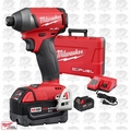 "Milwaukee 2753-22 M18 Gen 2 FUEL 1/4"" Hex Impact Driver Kit 5.0Ah OB"