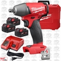 "Milwaukee 2755B-22 M18 FUEL 1/2"" Impact Wrench Friction Ring 3 5.0Ah Bat Kit"
