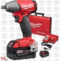 "Milwaukee 2755B-22 M18 FUEL 1/2"" Impact Wrench w/ Friction Ring Kit OB"