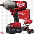 "Milwaukee 2762-22 M18 FUEL 1/2"" High Torque Impact Wrench w/ Detent + 3 5Ah"